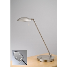 Holtkoetter Modern LED Table Lamp in Satin Nickel Finish