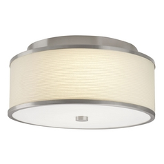 Hart Lighting Corona 17 Satin Nickel Semi-Flushmount Light