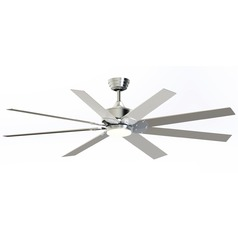Fanimation Fans Levon Dc Brushed Nickel LED Ceiling Fan with Light