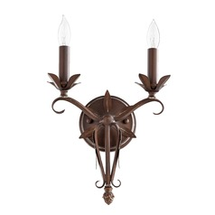 Quorum Lighting Flora Vintage Copper Sconce