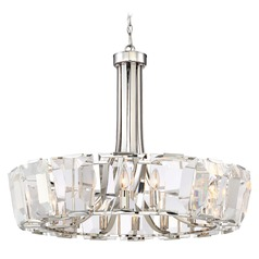 Metropolitan Lighting Castle Aurora Polished Nickel Chandelier