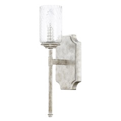 Capital Lighting Oxford Silver Patina Sconce
