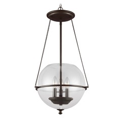 Sea Gull Lighting Havenwood Autumn Bronze LED Pendant Light with Bowl / Dome Shade