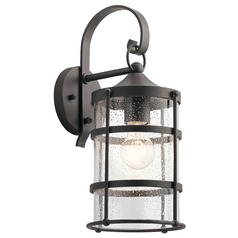 Seeded Glass Outdoor Wall Light Iron Mill Lane by Kichler Lighting