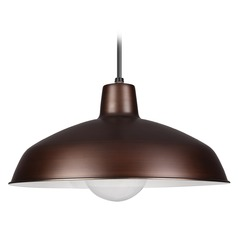 Farmhouse Barn Light Copper Painted Shade Pendants by Sea Gull Lighting