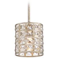 Quoizel Lighting Luxury Vintage Gold Mini-Pendant Light with Cylindrical Shade