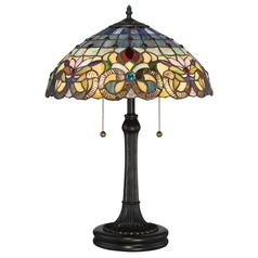 Quoizel Lighting Tiffany Vintage Bronze Table Lamp with Bowl / Dome Shade