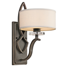 Sconce with Clear Glass in Brushed Nickel Finish