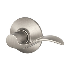 Schlage Passage Door Lever in Satin Nickel Finish SH F10N-ACC-619-REV