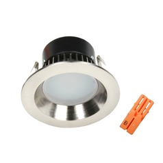LED Retrofit Reflector Trim with Title 24 Converter for 4-Inch Recessed Cans