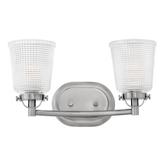 Holophane Glass Bath Light Polished Antique Nickel 2Lt by Hinkley Lighting