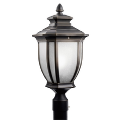 Kichler Post Light in Rubbed Bronze Finish