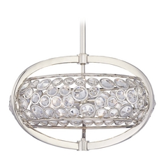 Crystal Pendant Light in Polished Nickel Finish