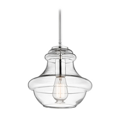 Kichler Lighting Everly Chrome Mini-Pendant Light with Urn Shade