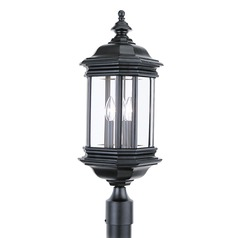 Sea Gull Lighting Hill Gate Black LED Post Light