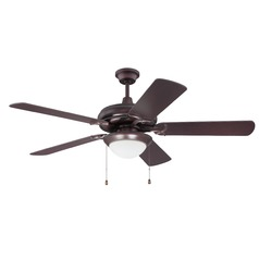 52-Inch Oiled Bronze Ceiling Fan with LED Light 3000K 900LM