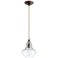 Cyan Design Camille Oiled Bronze Mini-Pendant with Bowl / Dome Shade