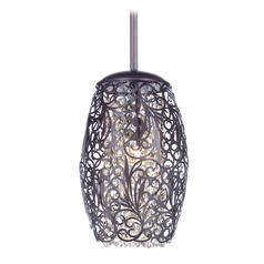 Maxim Lighting Arabesque Oil Rubbed Bronze Mini-Pendant Light with Oval Shade