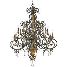 Quoizel 20-Light Chandelier in Heirloom