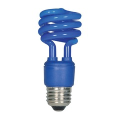 13-Watt Blue Compact Fluorescent Light Bulb
