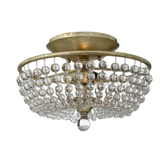 Fredrick Ramond Caspia Silver Leaf Semi-Flushmount Light