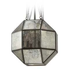 Art Deco Mercury Glass Pendant Light Bronze Lazlo by Sea Gull Lighting