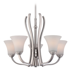 Quoizel Kemper Brushed Nickel Chandelier