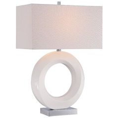 George Kovacs White Table Lamp with Rectangle Shade