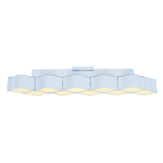 Billow Matte White LED Flushmount / Wall Light