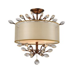 Elk Lighting Asbury Spanish Bronze Semi-Flushmount Light