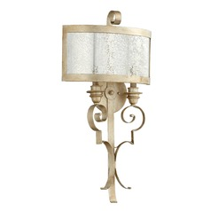 Quorum Lighting Champlain Aged Silver Leaf Sconce