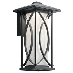 Clear Seeded With Inside Etch LED Outdoor Wall Light Black Ashbern by Kichler Lighting