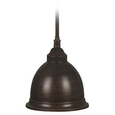 Kenroy Home Carson Golden Bronze Mini-Pendant Light with Bowl / Dome Shade
