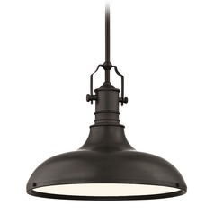 Farmhouse Bronze Pendant Light 15.63-Inch Wide