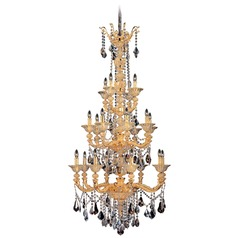 Allegri Mendelsshon 2-Tier 20-Light Crystal Chandelier in 2 Tone 24K Gold