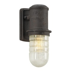 Troy Lighting Dock Street Centennial Rust LED Outdoor Wall Light