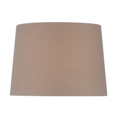 Taupe Drum Lamp Shade with Spider Assembly