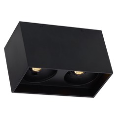 Black LED Flushmount Ceiling Light by Tech Lighting