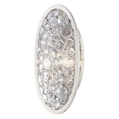 Crystal Sconce Wall Light in Polished Nickel Finish