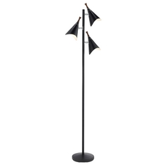 Mid-Century Modern Floor Lamp Black Draper by Adesso Home Lighting