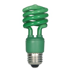 Satco Products, Inc. 13-Watt Green Compact Fluorescent Bulb S7272