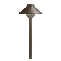 Kichler Lighting Kichler Lighting Landscape LED Textured Architectural Bronze LED Path Light 15820AZT27