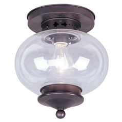 Livex Lighting Harbor Bronze Close To Ceiling Light