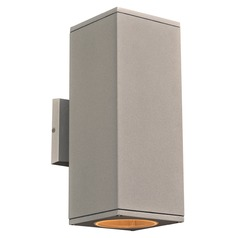 Plc Lighting Dominick Silver LED Outdoor Wall Light