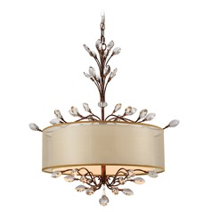 Elk Lighting Asbury Spanish Bronze Pendant Light with Drum Shade