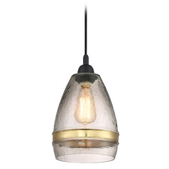 Quoizel Lighting Piccolo Pendant Mystic Black Mini-Pendant Light with Bowl / Dome Shade