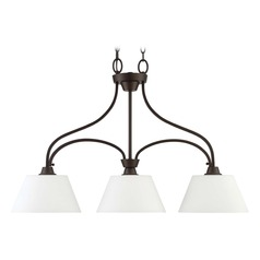 Craftmade Lighting Grace Espresso Island Light with Bell Shade