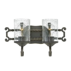 Traditional Seeded Glass Black Bath Light 2-Lt by Hinkley Lighting
