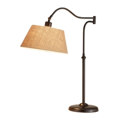 Adesso Home Lighting Rodeo Antique Bronze Swing Arm Lamp
