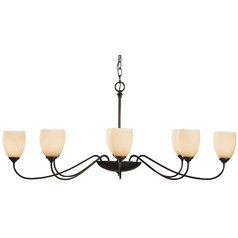 Hubbardton Forge 8-Light Chandelier in Dark Smoke